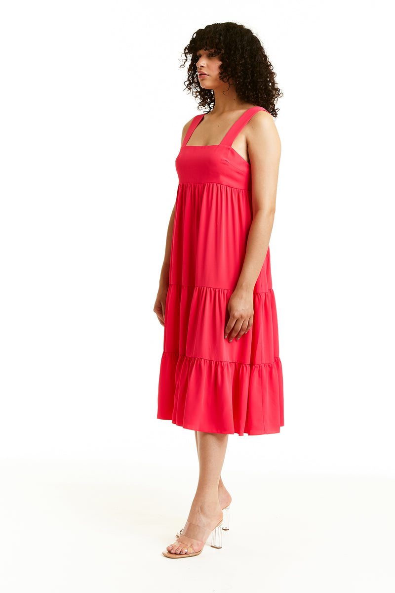 Amanda Uprichard Mitzi Dress - Red/Pink | Women's Dresses