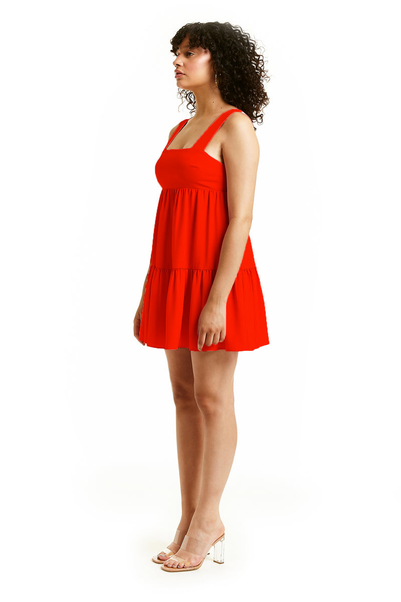 Amanda Uprichard Mitzi Mini Dress - Red | Women's Dresses