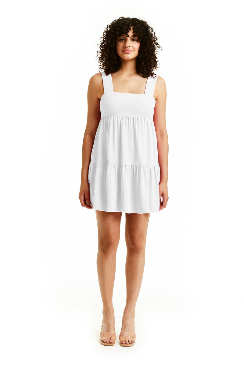 Amanda Uprichard Mitzi Mini Dress - Ivory | Women's Dresses