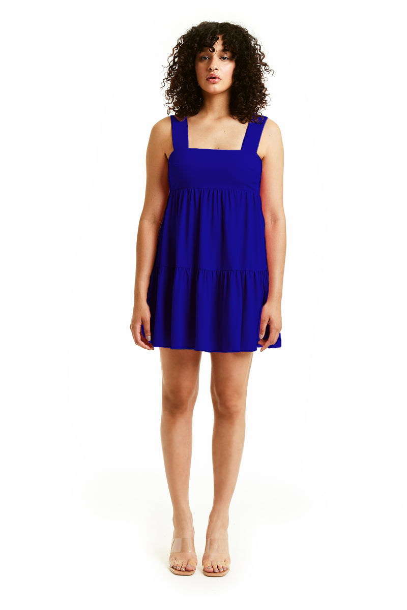 Amanda Uprichard Mitzi Mini Dress - Blue | Women's Dresses