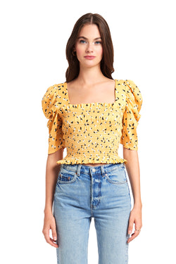 Amanda Uprichard Monaco Top - Yellow | Women's Tops