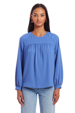 Amanda Uprichard Nanette Top- Blue | Women's Tops