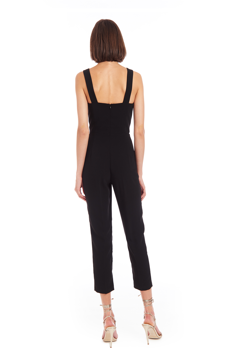 Amanda Uprichard Nia Jumpsuit - Black | Women's Jumpsuits