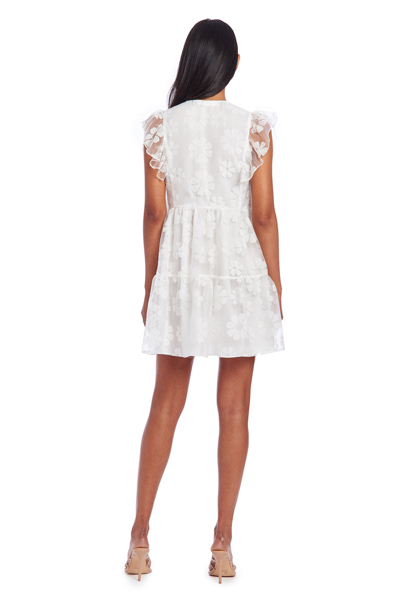 Amanda Uprichard Norma Dress - White Daisy| Women's Dresses