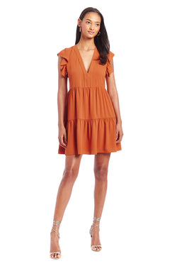 Amanda Uprichard Norma Dress - Orange | Women's Dresses