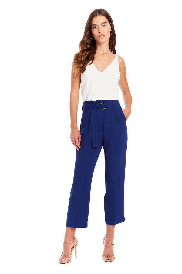 Amanda Uprichard Palmer Pants - Blue | Women's Bottoms