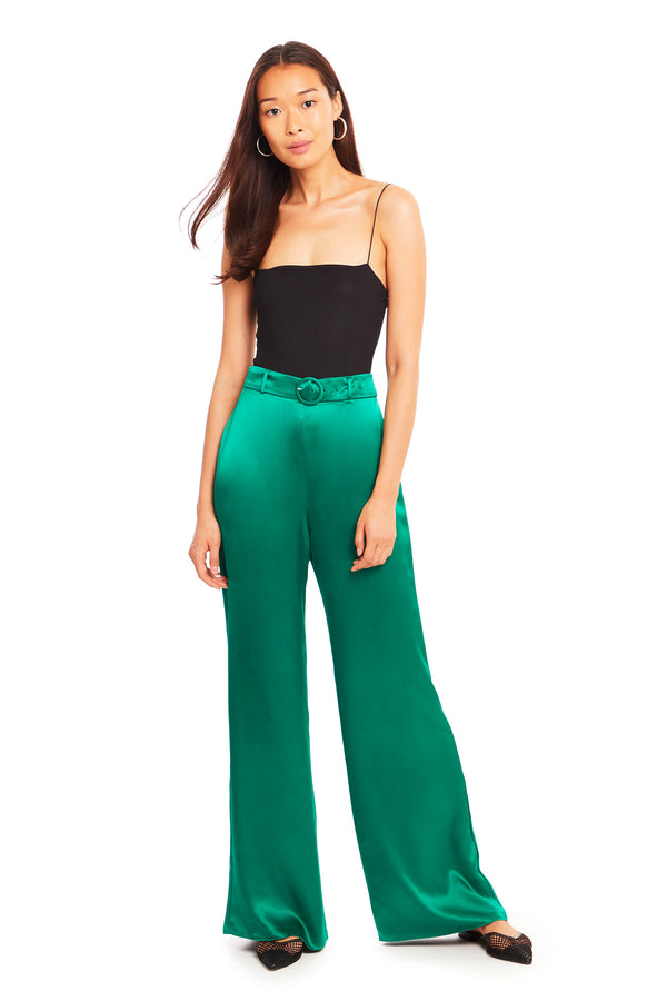 Amanda Uprichard Parker Pants - Green | Women's Bottoms