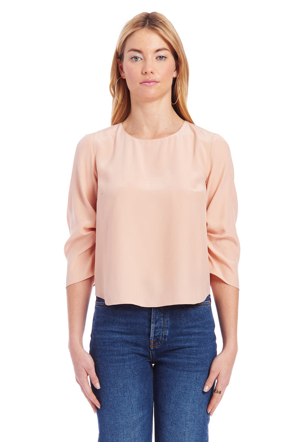 Amanda Uprichard Parkside Top -Light Pink | Women's Tops