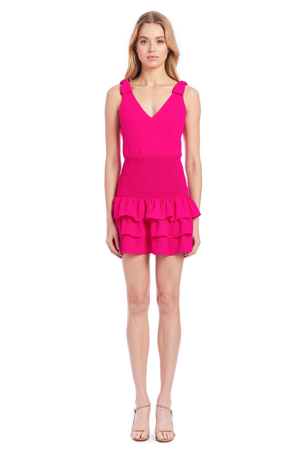 Amanda Uprichard Paulette Dress - Hot Pink | Women's Dresses