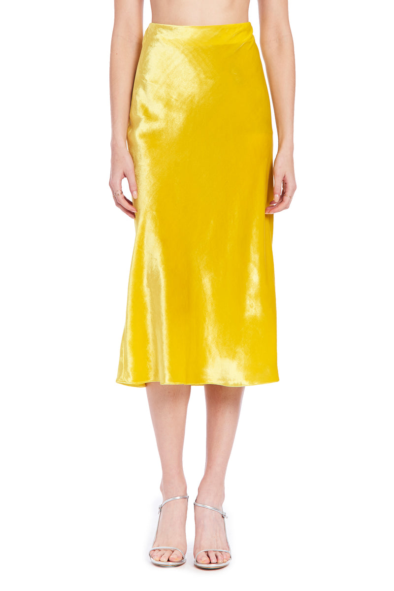 Amanda Uprichard Paulina Skirt - Yellow | Women's Bottoms