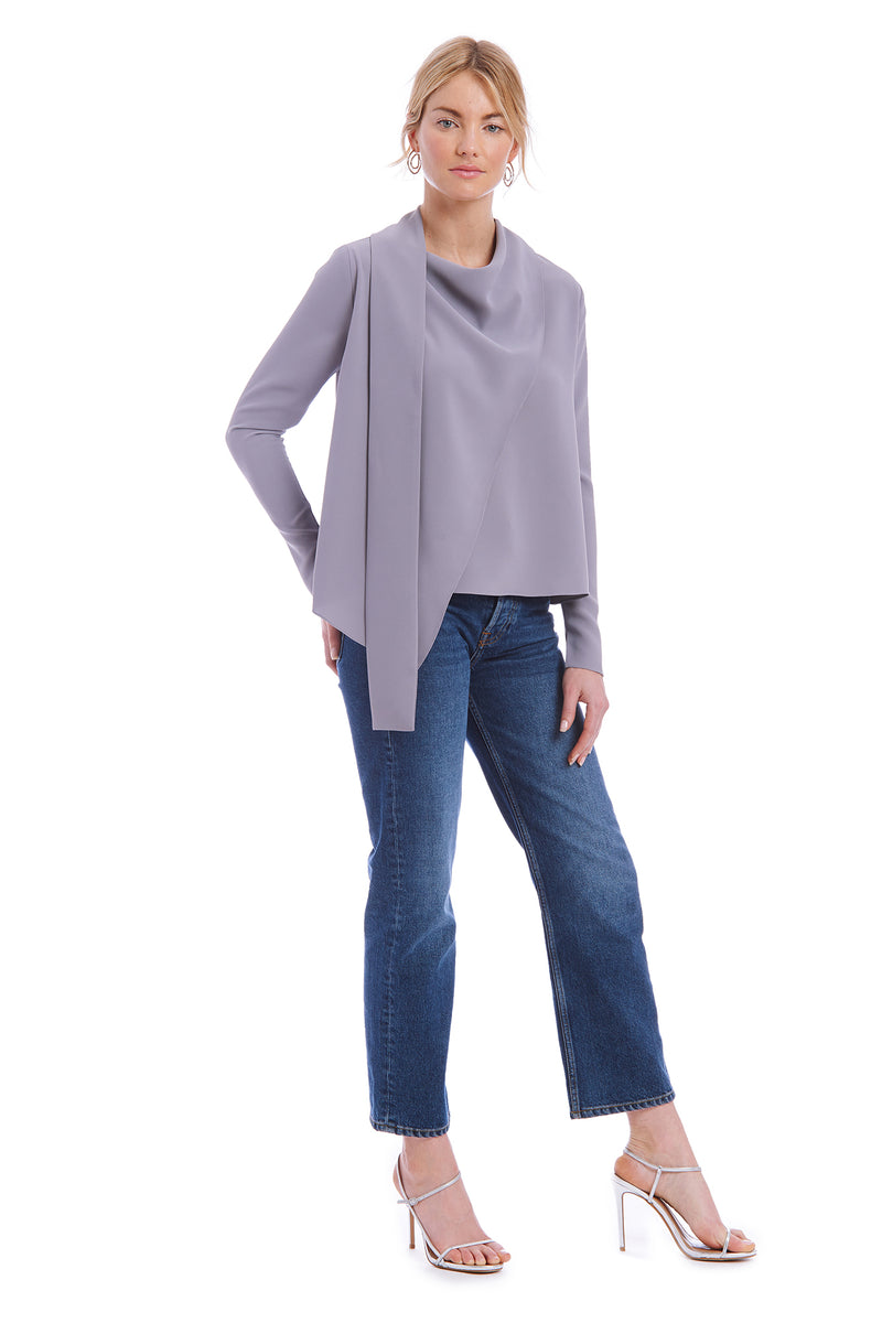 Amanda Uprichard Philippe Top - Gray | Women's Tops