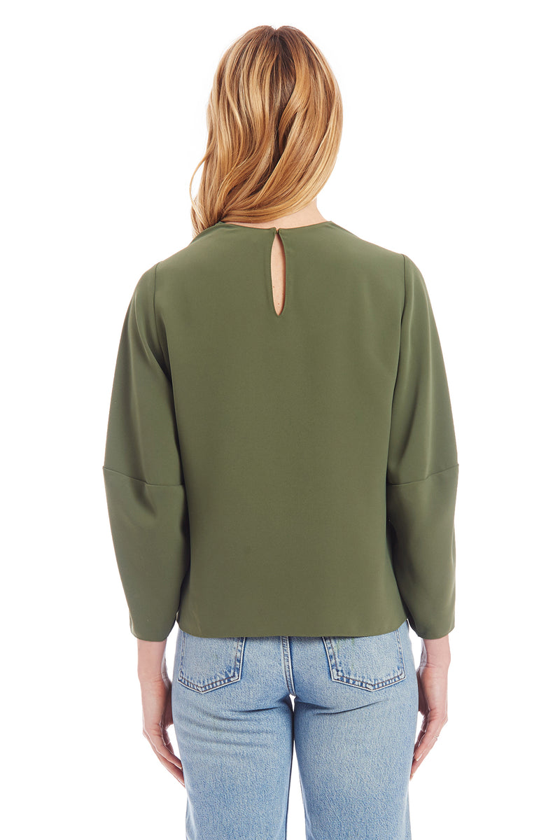 Amanda Uprichard Philomena Top - Green | Women's Tops
