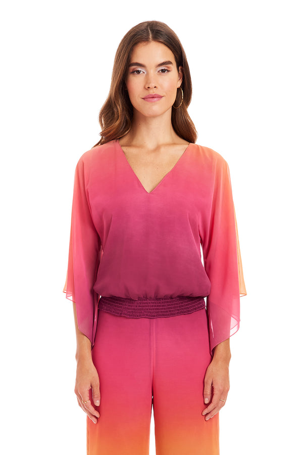 Amanda Uprichard Plymouth Top - Pink Ombre | Women's Tops