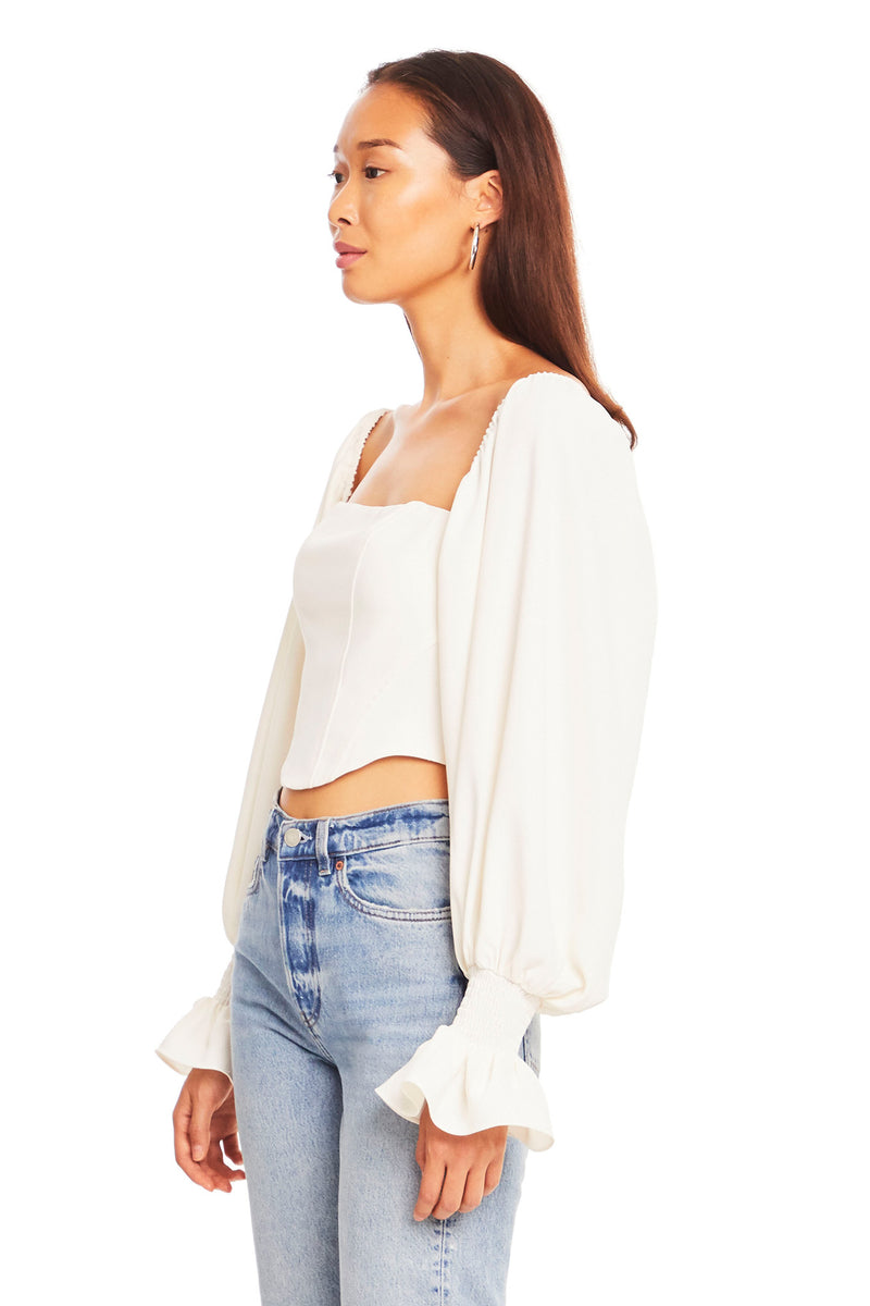 Amanda Uprichard Priscilla Top - White | Women's Tops