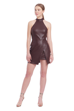 Amanda Uprichard Raelynn Dress - Chocolate Brown | Women's Dresses