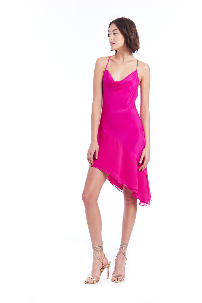 Amanda Uprichard Rafaela Dress - Magenta | Women's Dresses