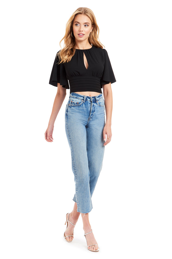 Amanda Uprichard Raya Top - Black | Women's Tops