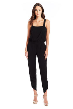 Amanda Uprichard Reece Jumpsuit - Black | Women's Jumpsuits