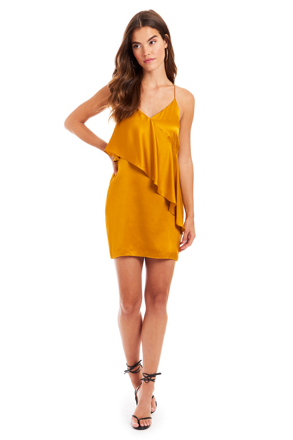 Amanda Uprichard Rivage Dress - Gold | Women's Dresses