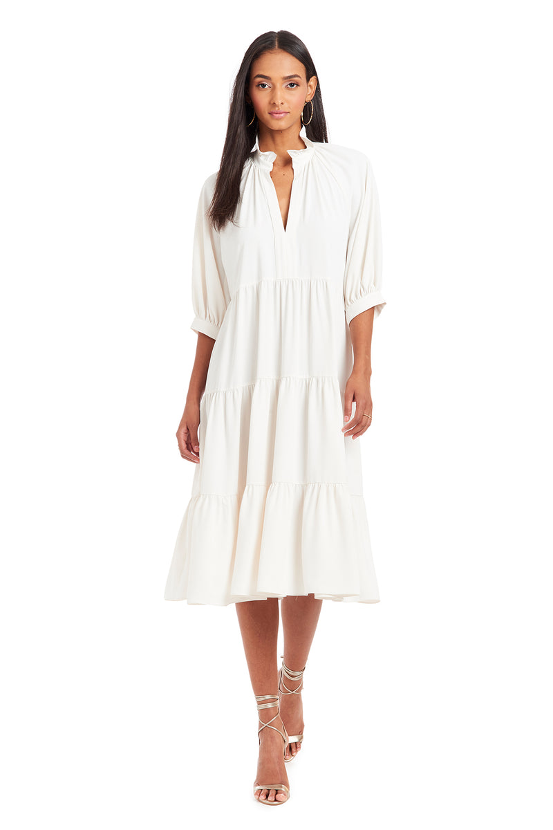 Amanda Uprichard Saffron Midi - White | Women's Dresses