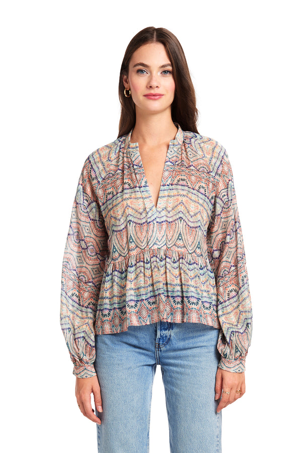 Amanda Uprichard Saffron Top - Multi | Women's Tops