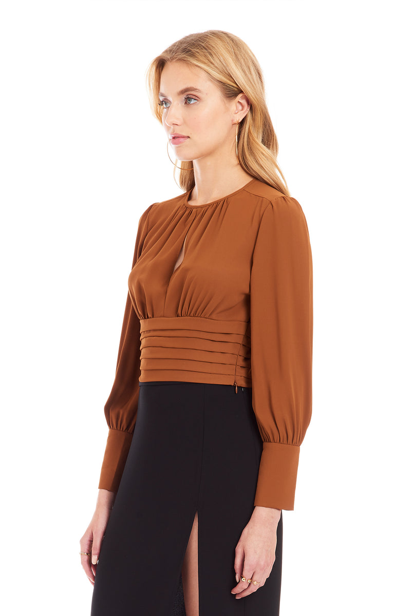 Amanda Uprichard Samira Top - Umber | Women's Tops