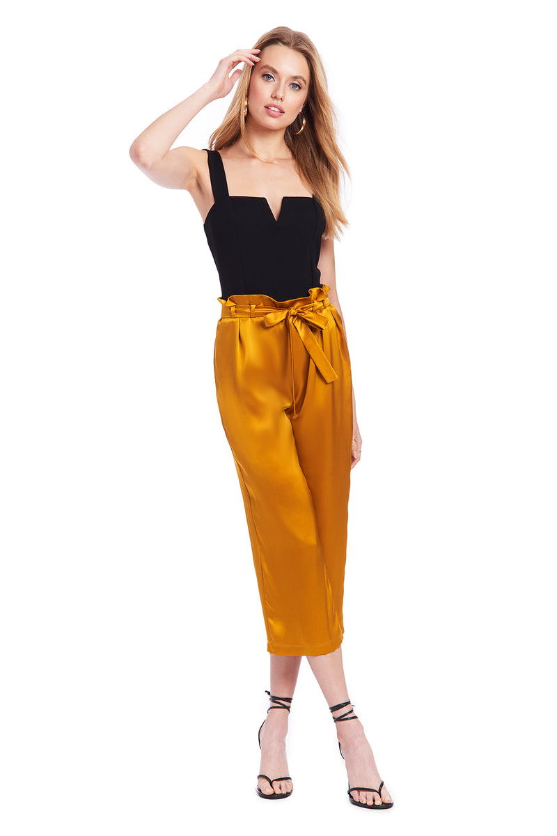 Amanda Uprichard Sanford Pants - Gold | Women's Bottoms