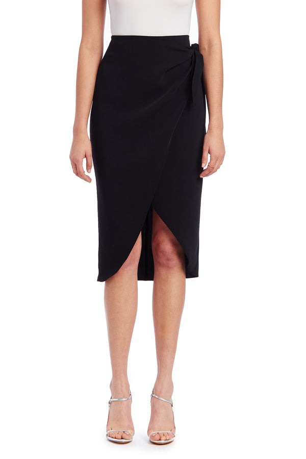 Amanda Uprichard Sarong Skirt - Black | Women's Bottoms