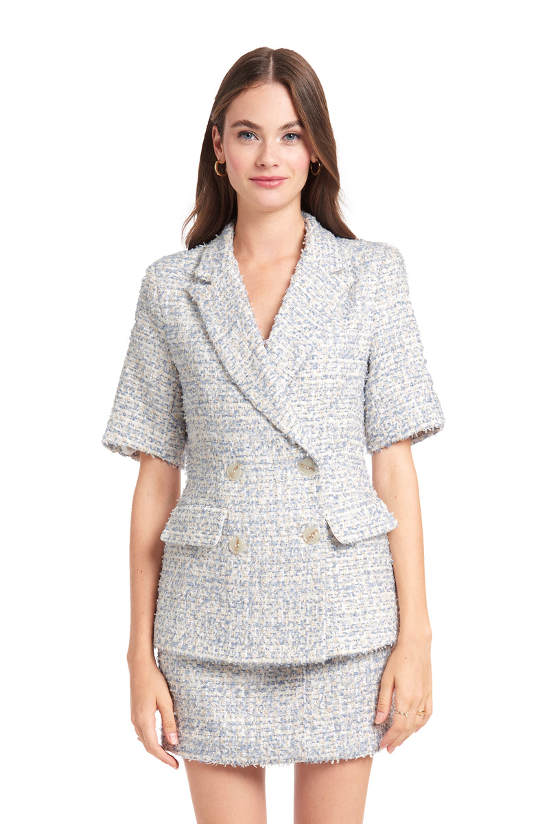 Amanda Uprichard Sawyer Jacket - Tweed | Women's Tops