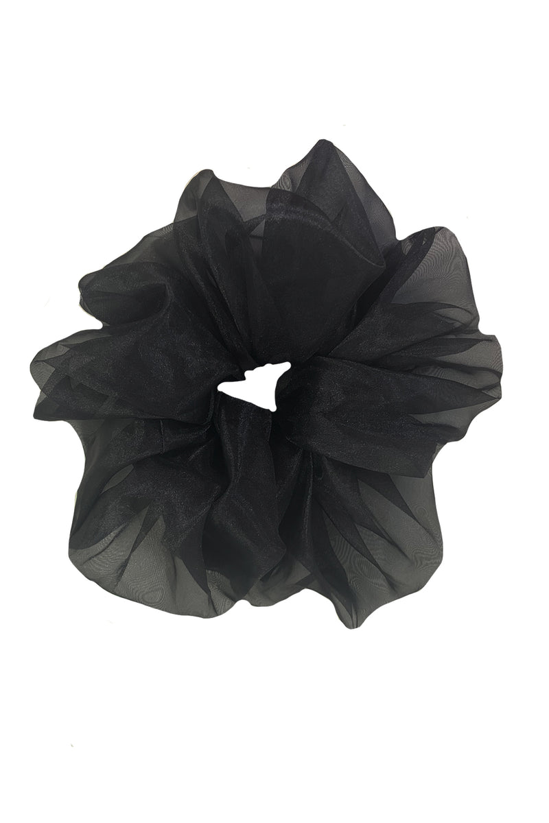 Organza Scrunchie - Black