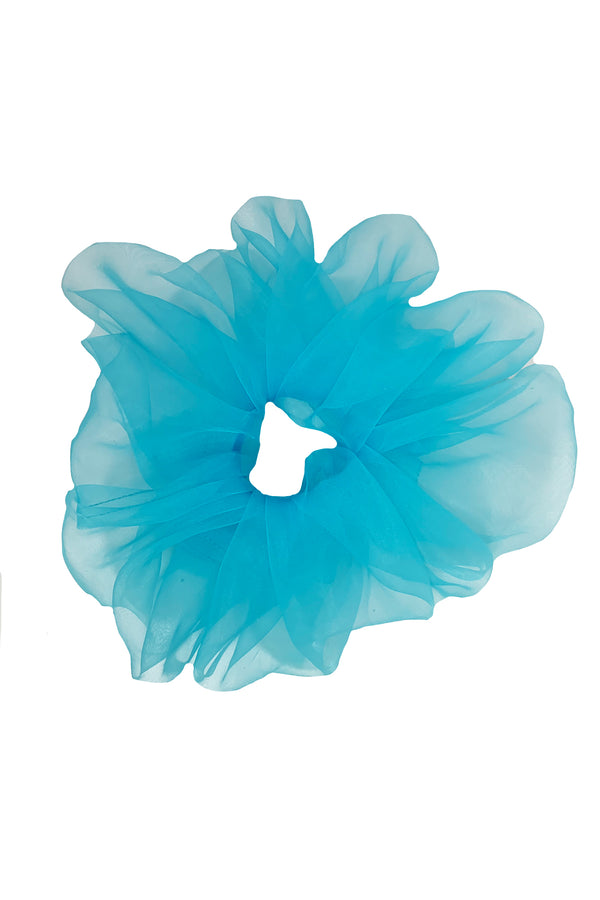 Amanda Uprichard Organza Scrunchie - Blue | Women's Scrunchies