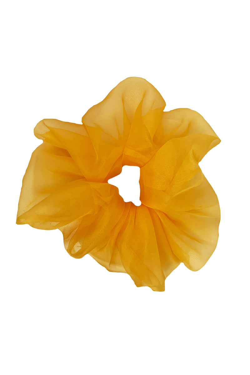 Amanda Uprichard Organza Scrunchie - Yellow | Women's Scrunchies