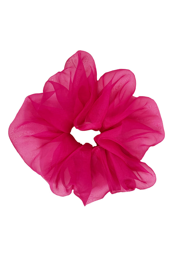 Organza Scrunchie - Hot Pink