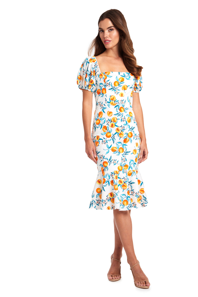 Amanda Uprichard Senorita Dress - Peaches | Women's Dresses