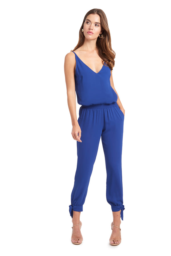 Amanda Uprichard Seville Jumpsuit - Blue | Women's Jumpsuits