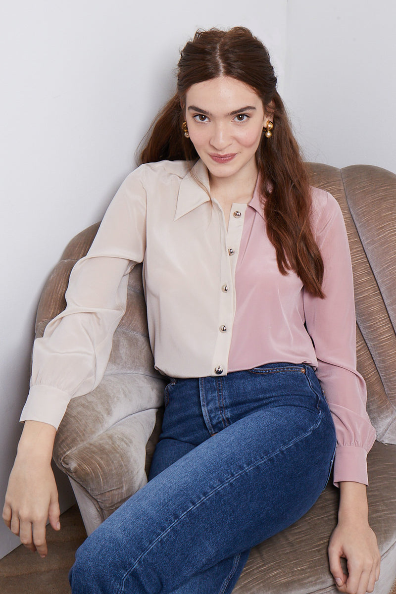 Amanda Uprichard Shari Blouse - Multi | Women's Tops