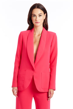 Amanda Uprichard Shawl Collar Blazer - Pink | Women's Tops