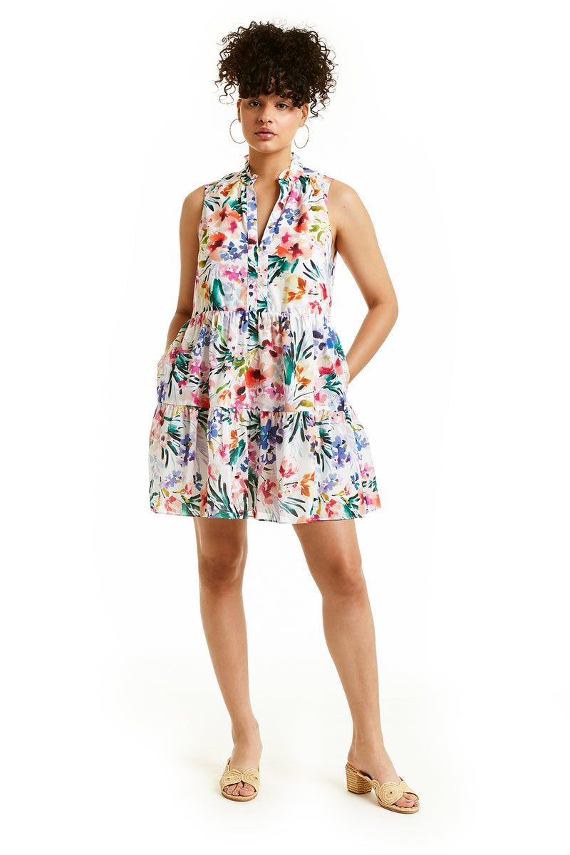 Amanda Uprichard Sleeveless Saffron Dress - Floral | Women's Dresses