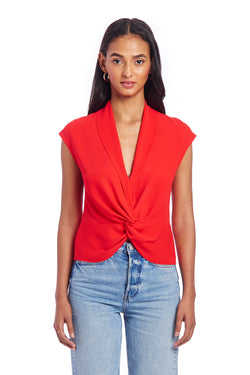 Sleeveless Keely Top - Red | Women's Tops