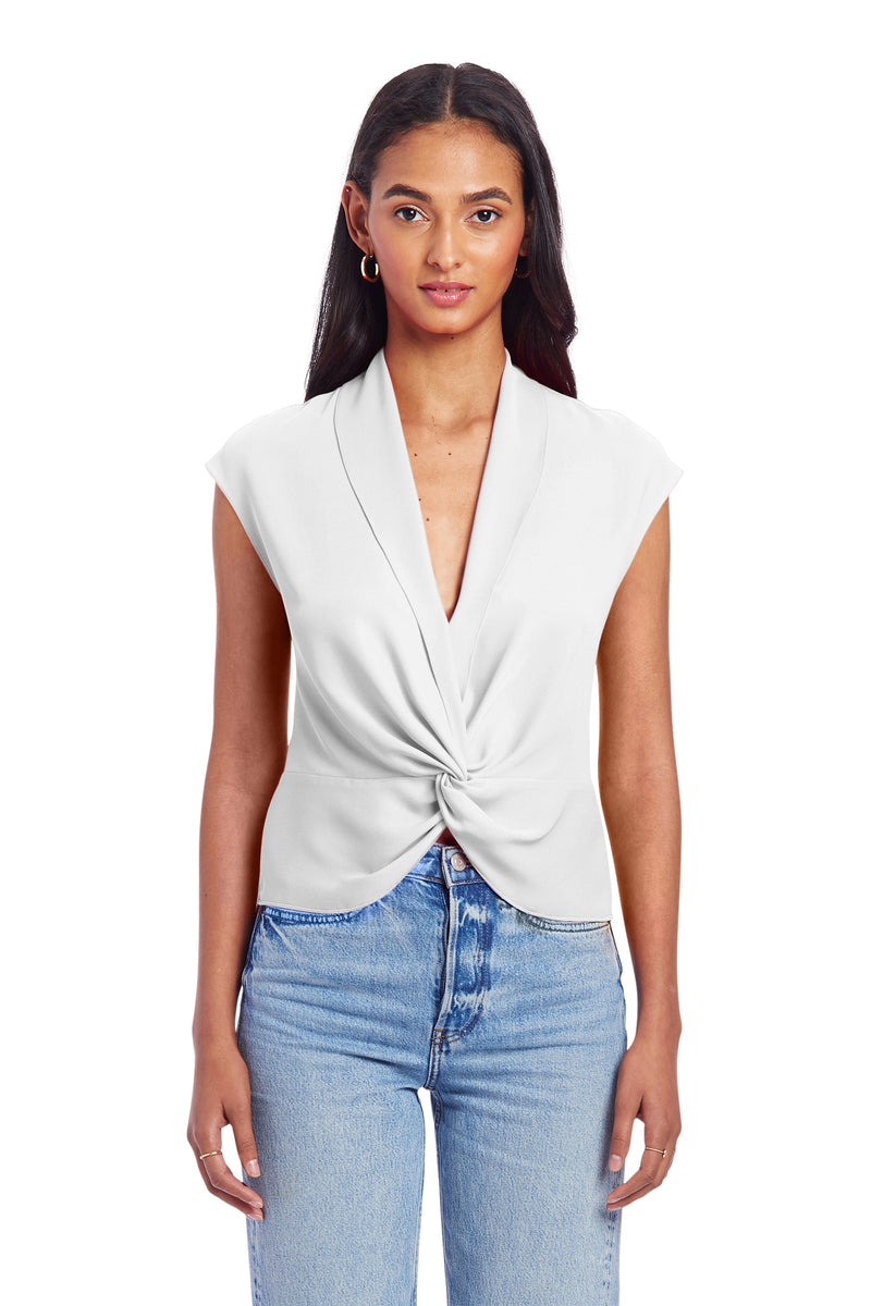 Sleeveless Keely Top - Ivory | Women's Tops