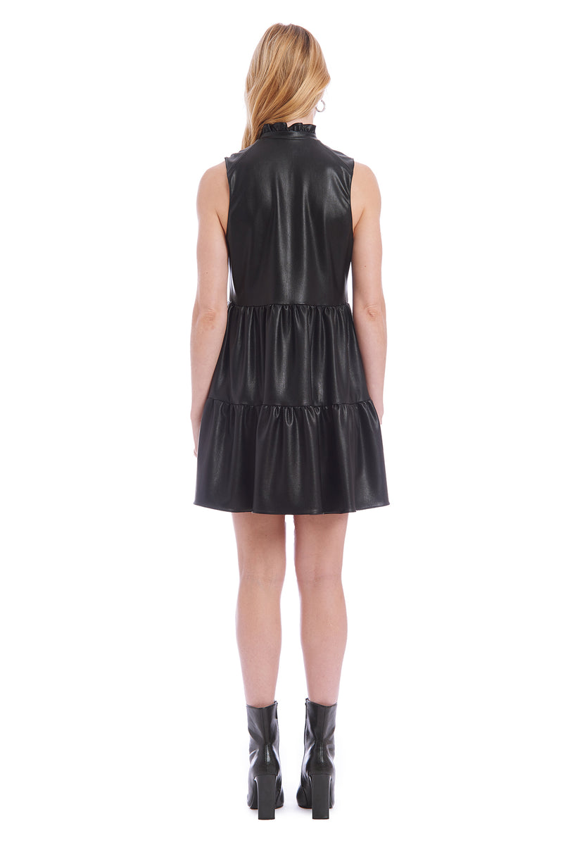 Amanda Uprichard Slvlss Saffron Dress- Black | Women's Dresses