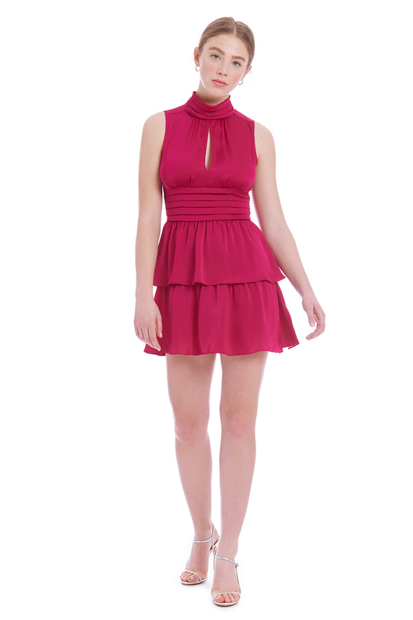 Amanda Uprichard Slvlss Samira Dress - Magenta | Women's Dresses