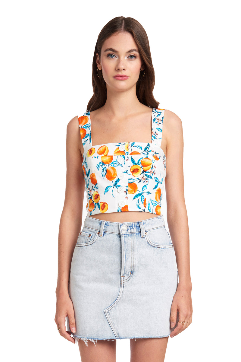 Amanda Uprichard Spade Top - Peaches | Women's Tops
