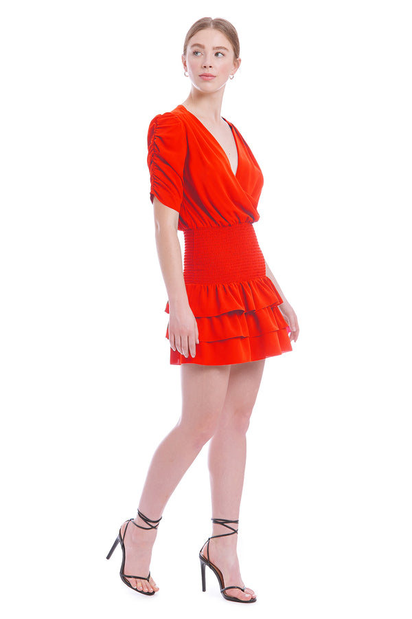 Amanda Uprichard Tabby Dress- Crimson | Women's Dresses  Edit alt text