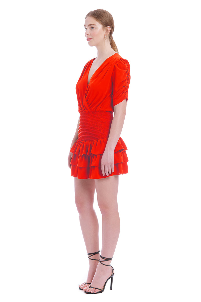 Amanda Uprichard Tabby Dress- Crimson | Women's Dresses