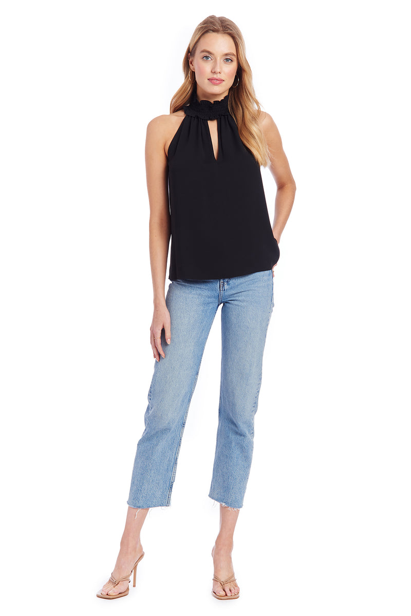 Amanda Uprichard Talita Top - Black | Women's Tops