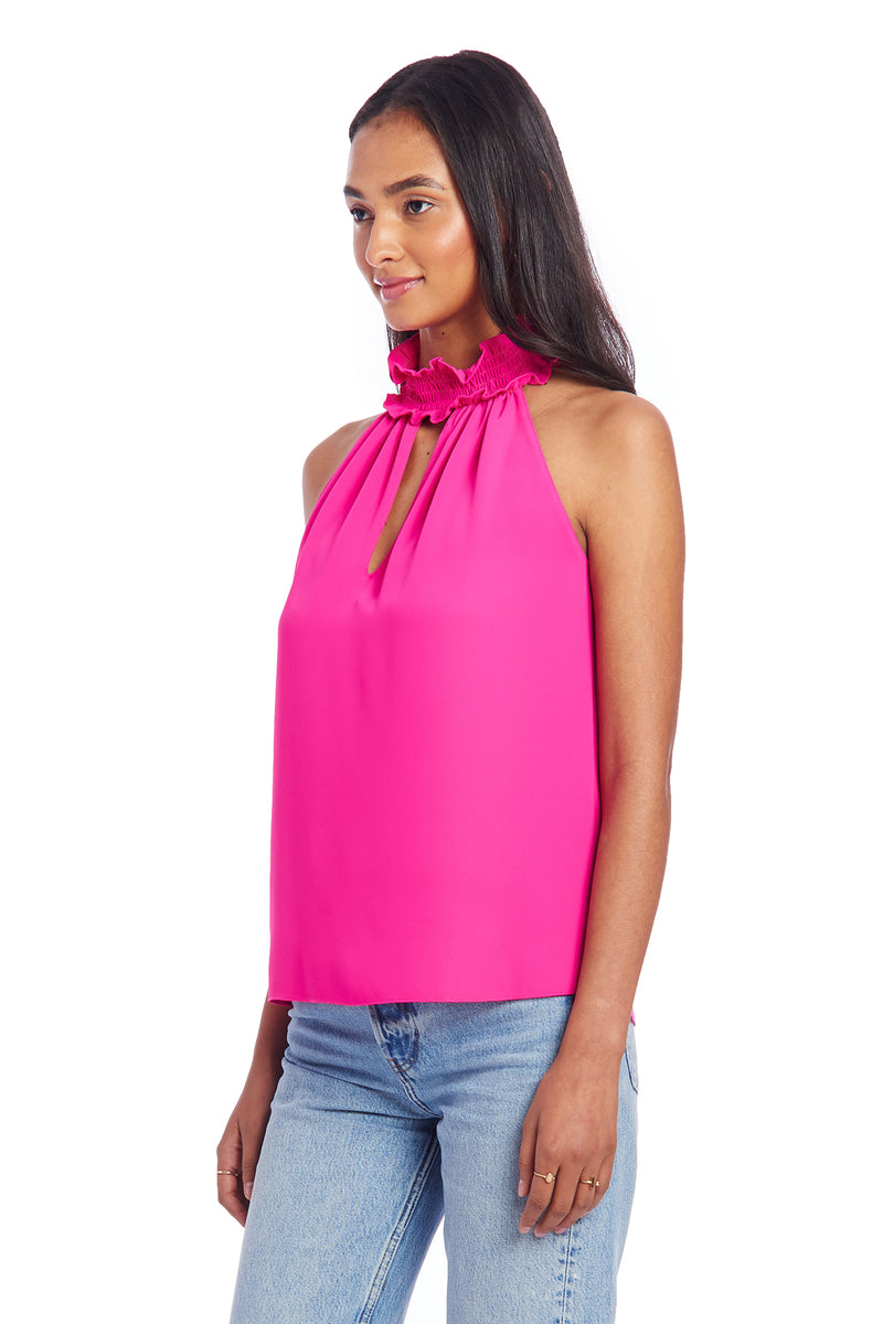 Amanda Uprichard Talita Top - Hot Pink | Women's Tops