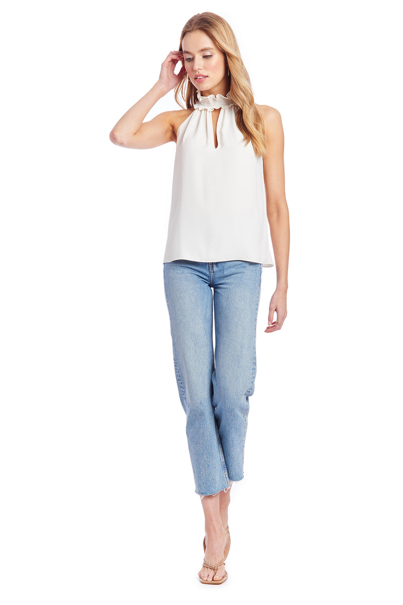 Amanda Uprichard Talita Top - Ivory | Women's Tops  Edit alt text