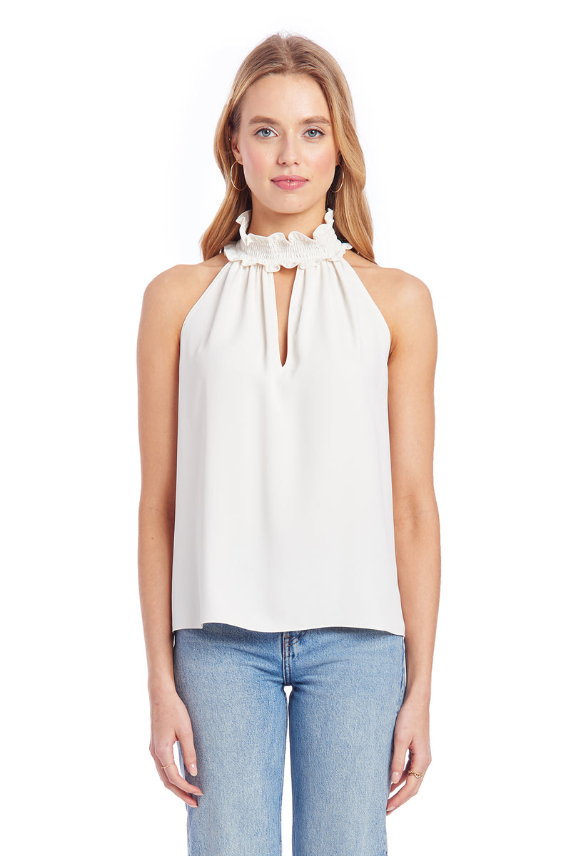Amanda Uprichard Talita Top - Ivory | Women's Tops