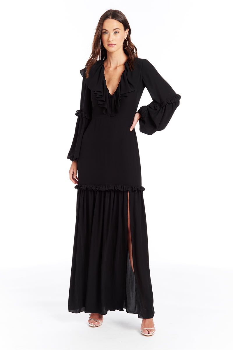 Amanda Uprichard Talulah Maxi - Black | Women's Dresses